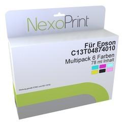 epson tintenpatronen multipack 6 farben c13t04874010. Black Bedroom Furniture Sets. Home Design Ideas